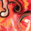 3-luik in acryl en airbrush op linnen, 300x100cm
