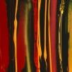 Acryl en airbrush op linnen, 300x50cm
