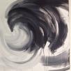 2-piece in acrylic on linen, 200x100cm