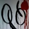 2-piece in gloss paint on linen, 200x50cm, serene modern painting