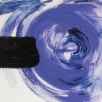 acryl en hoogglans lank op linnen, 200x50cm, balance painting