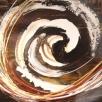 moderne painting met veel energy in basic kleuren, 200x50cm, acryl op linnen
