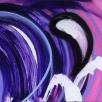 acryl en airbrush op linnen, 250x50 cm, heel expressionistische painting