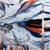 prachtig 2-luik in hoogglans lak op linnen met veel expressie, 200x100 cm